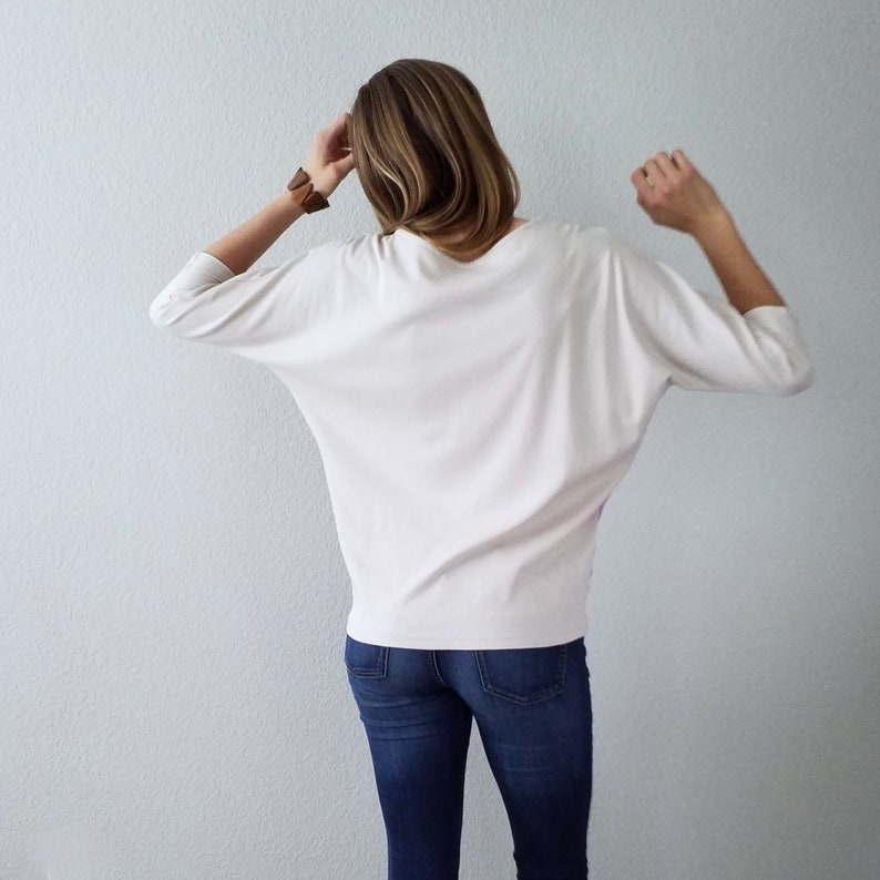 Colorblock Top Sustainable Clothing Batwing Organic Jersey Top