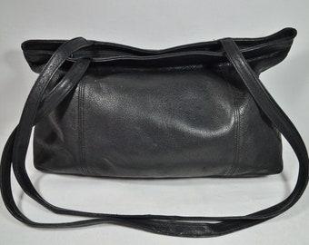 e6c2c059149fd Vintage Schultertasche Shopper Leder schwarz Picard