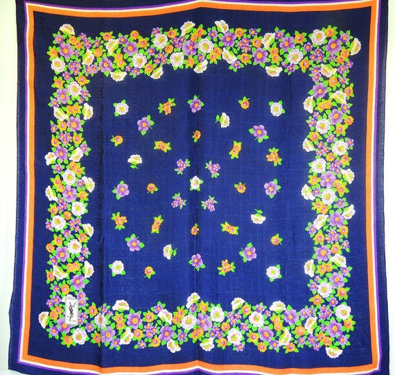Yves Saint Laurent Seventies silk scarf