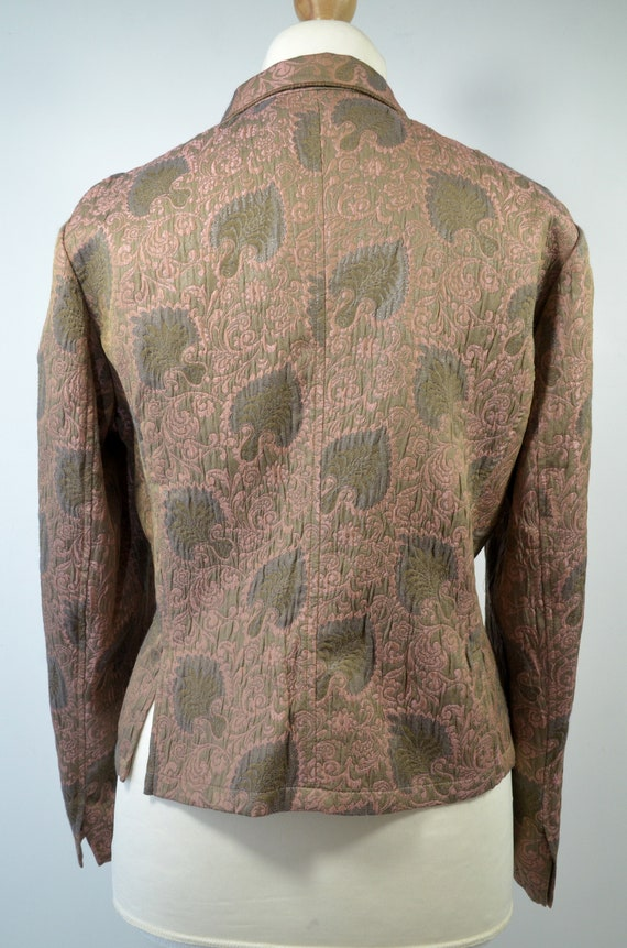 Vintage Cloqué Jacket Blazer Rosewood Brown, by R… - image 5
