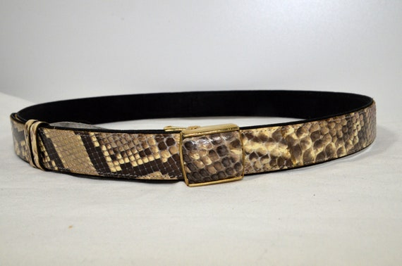 Snake Belt Python Belt Pegasus, also Men's Belt