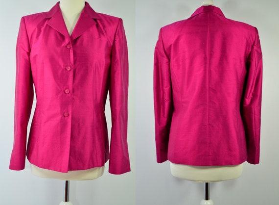 Silk blazer, Raspberry red, Betty Barclay