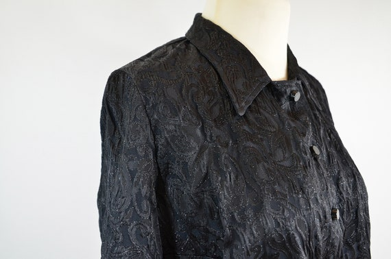 Cloqué jacket with jacquard pattern, 70s, black - image 2