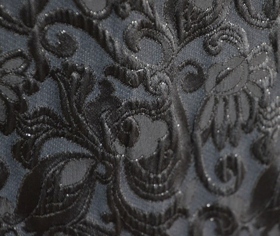 Cloqué jacket with jacquard pattern, 70s, black - image 4