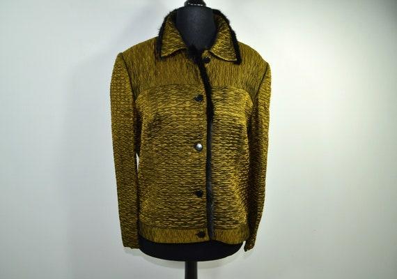 Cloqué Blouson gold black 70s - image 1