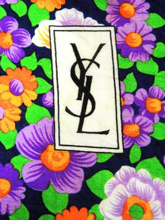 Yves Saint Laurent Seventies silk scarf - image 3