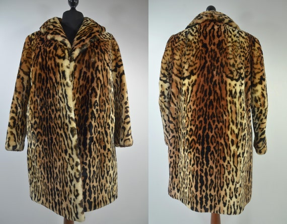 Vintage Leo short coat 80s fake fur