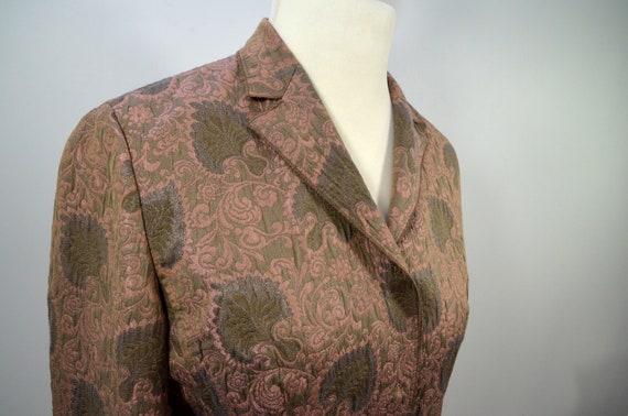 Vintage Cloqué Jacket Blazer Rosewood Brown, by R… - image 3