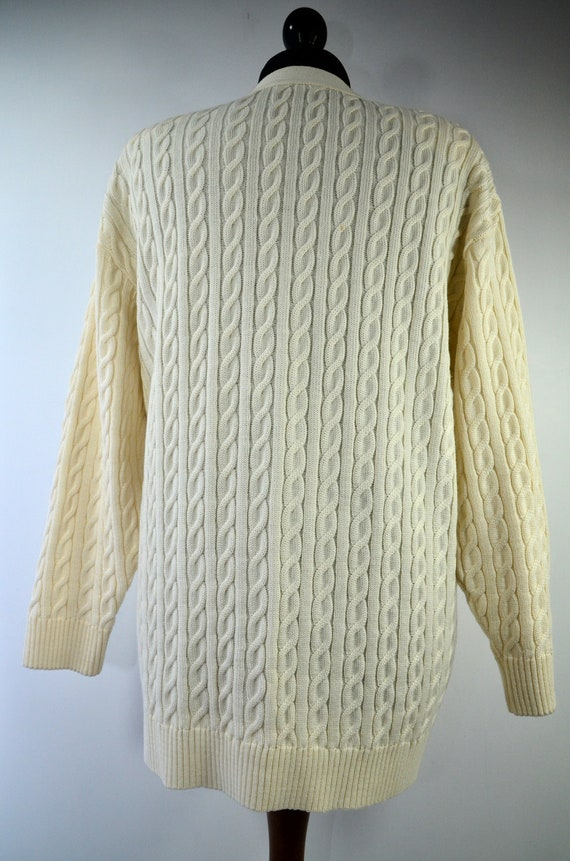 Cardigan gilet maglia alta metallo vintage anni 90 s