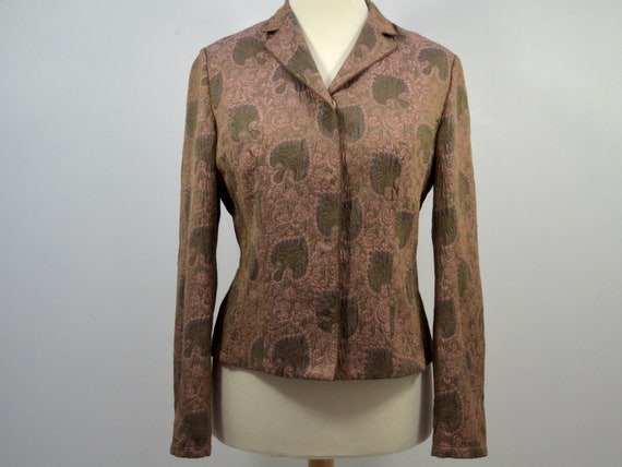 Vintage Cloqué Jacket Blazer Rosewood Brown, by R… - image 1