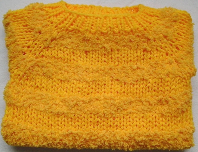 Cuddly soft snuggle sweater 86-92 yellow Teddy-Velcro new from unique magic