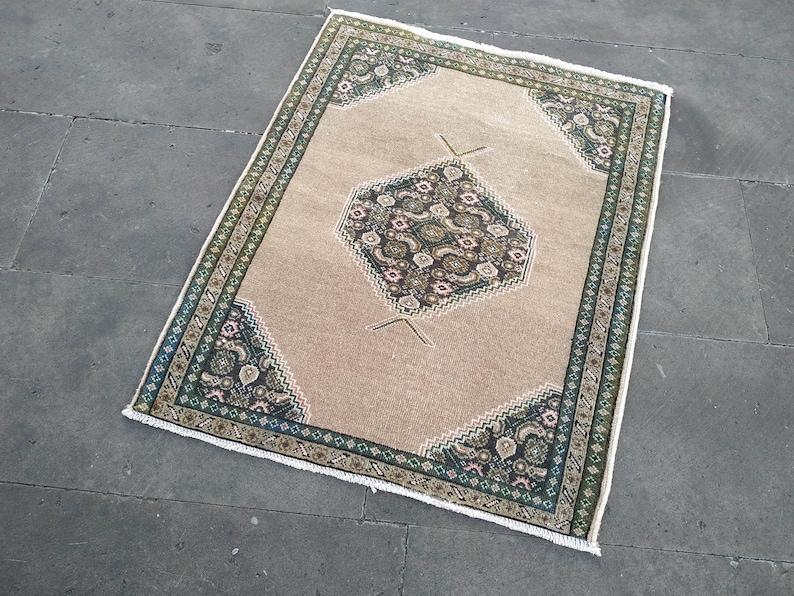 Small Persian Rug 2.1x2.7ft,bathroom rug,front door mat,handmade rug,small area rug,vintage rug,turkish rug,boho decor,bedroom rug,wool rug