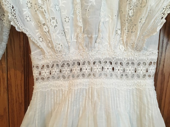 Vintage, Antique, white dress, Edwardian, 1900's - image 7