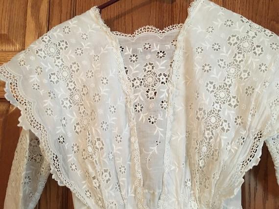 Vintage, Antique, white dress, Edwardian, 1900's - image 5