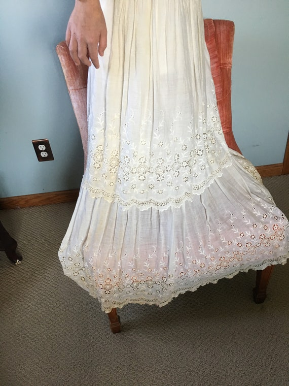 Vintage, Antique, white dress, Edwardian, 1900's - image 3