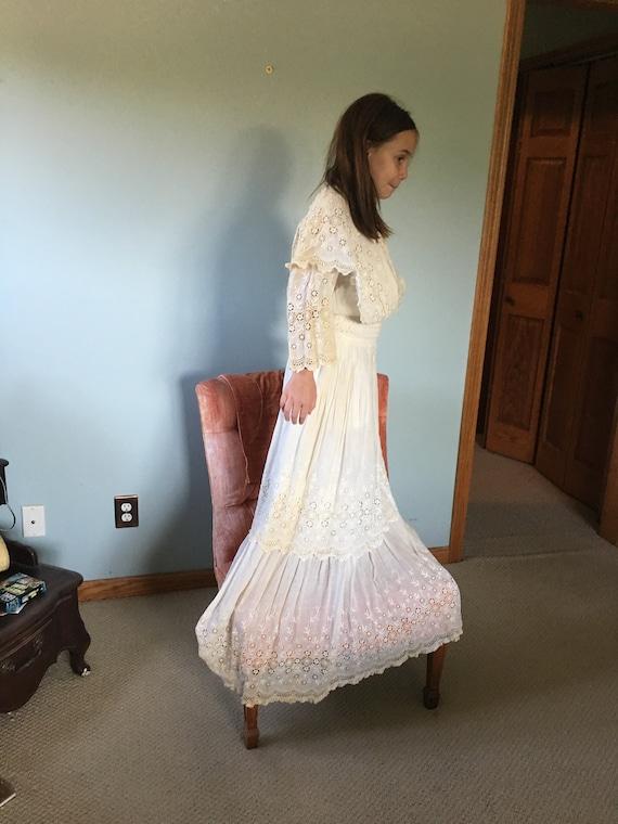 Vintage, Antique, white dress, Edwardian, 1900's - image 2