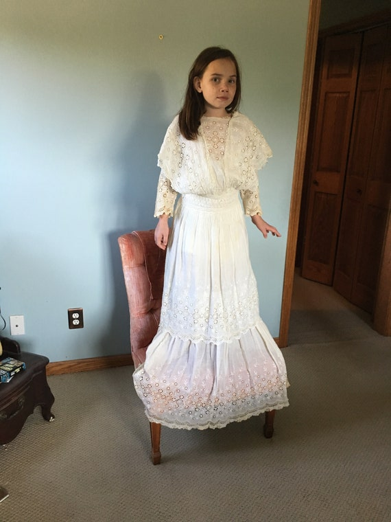 Vintage, Antique, white dress, Edwardian, 1900's
