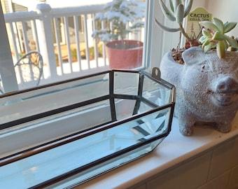Vintage Glass Terrarium Etsy