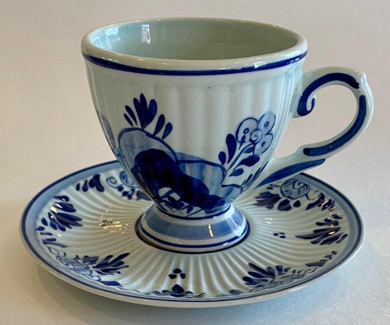 3dec32f1612 Delftsblauw Tea Cup Set Delfts Blauw Cup and Saucer Vintage | Etsy