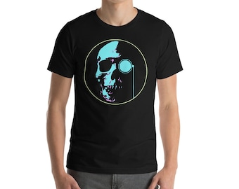 Men's Short-Sleeve Pop Colored Skull T-Shirt