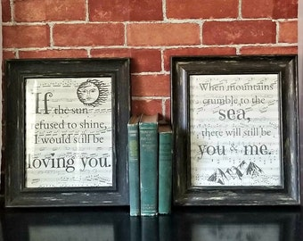 led zeppelin thank you lyrics print set of 2 unframed - Blue Christmas Lyrics