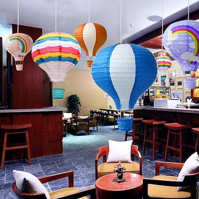 14inch 35cm Rainbow Hot Air Balloon Paper