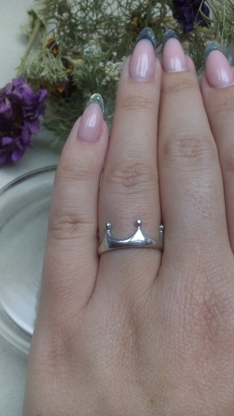 Crown Ring 925 Sterling Silver jewelry 14K gold ring christmas gift for wife girlfriend birthday Wedding Rings Handmade womens brass band