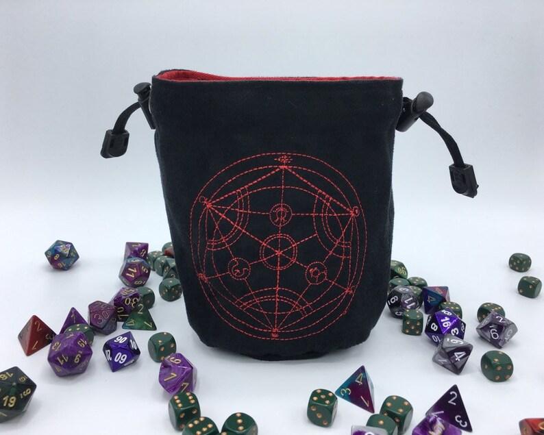 Human Transmutation Circle Dice Bag Fullmetal Alchemist Etsy