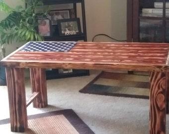 b6ca2280a2c American Flag Coffee Table