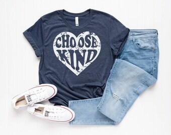 7aa8a29b Choose Kind Heart Shirt - Women's Tee - Kindness Tee - Always be kind - Love  Shirts