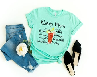 f8c24dee Bloody Mary Shirt - Womens Shirt - I love Alcohol - Drinking Shirts- Let's  Drink