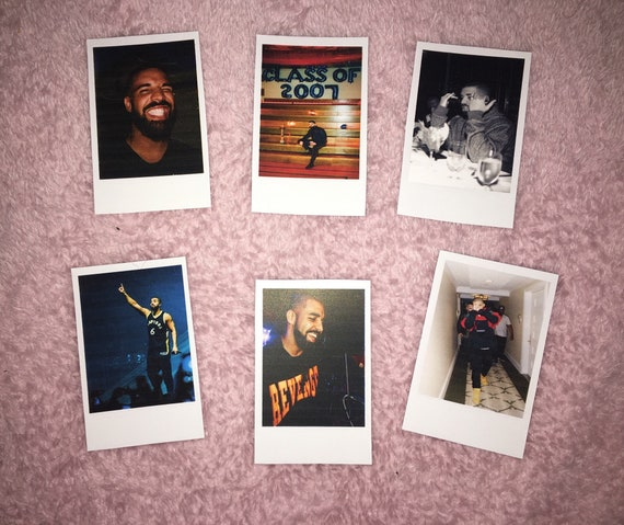 Drake Instax Mini Style Polaroids! Bedroom Decor, Wall Hangings, Bedroom,  Phone, Office, Scrapbook - Fandom, Birthday Gift