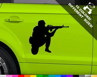 DECALs Sticker Die Cut For Car Window Bumper Laptop RV 2 GOT ASSAULT RIFLE
