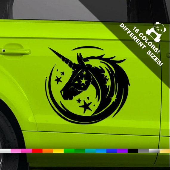 Wall or Laptop Unicorn Decal Sticker for Car