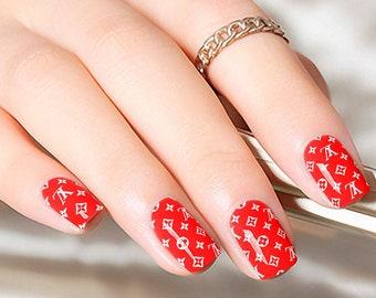 Louis Vuitton Nails Etsy