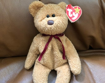 28ded076d32 TY Beanie Baby CURLY - RARE With Errors 1996