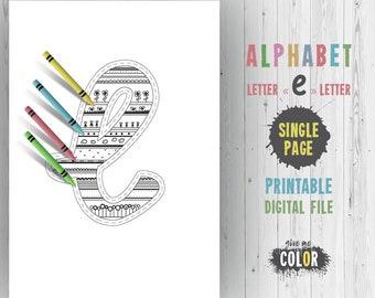 Letter C Alphabet Letters Decor Kids Party Games Coloring Etsy