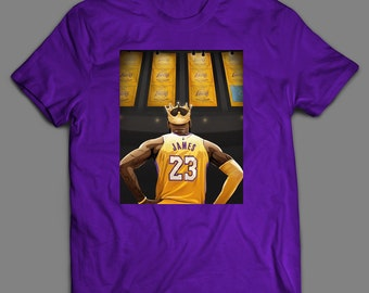 64eb72315529 Champions Banners Lebron Basketball Inspired Lebron James T-Shirt   High  Quality T-Shirt Many Colors   Sizes