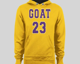 8c09445f051 Los Angeles Basketball G.O.A.T 23 Winter Hoodie * High Quality DTG hoodie  Many Sizes S-XXXL