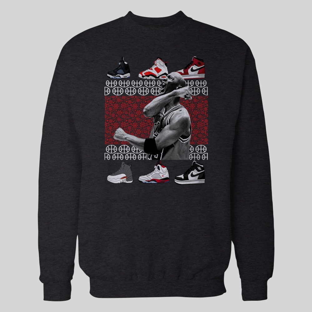 MJ de basketball Basketball inspiré Noël hiver * pull * hiver haute qualité DTG pull plusieurs tailles S-XXXL c8b01f