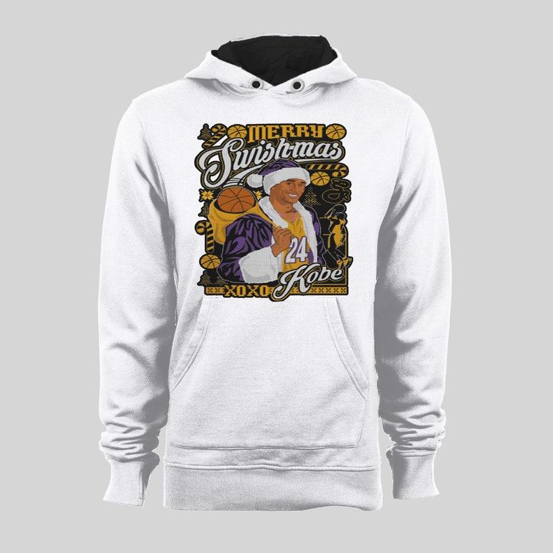 9a40da99bfe Merry Swishmas Kobe Lakers Inspired Basketball Hoodie High | Etsy