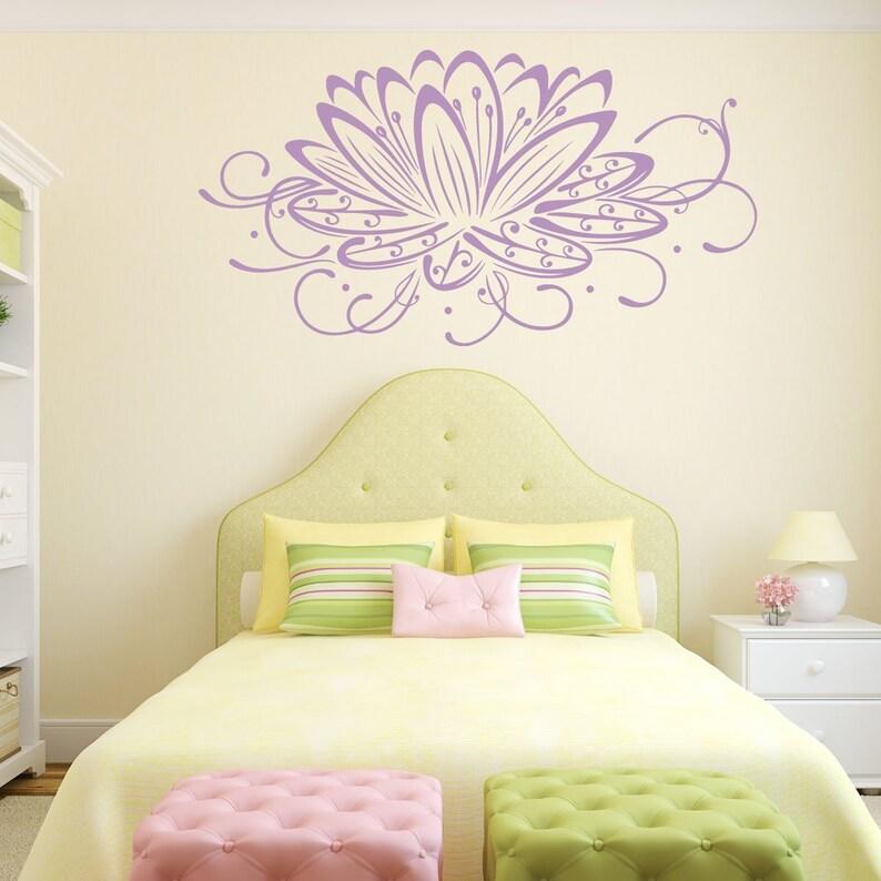 Purple Lotus Flower Lotus Flower Wall Decal White Lotus Flower Blue Lotus Flower Flower Decals For Wall Pink Lotus Flower Lotus