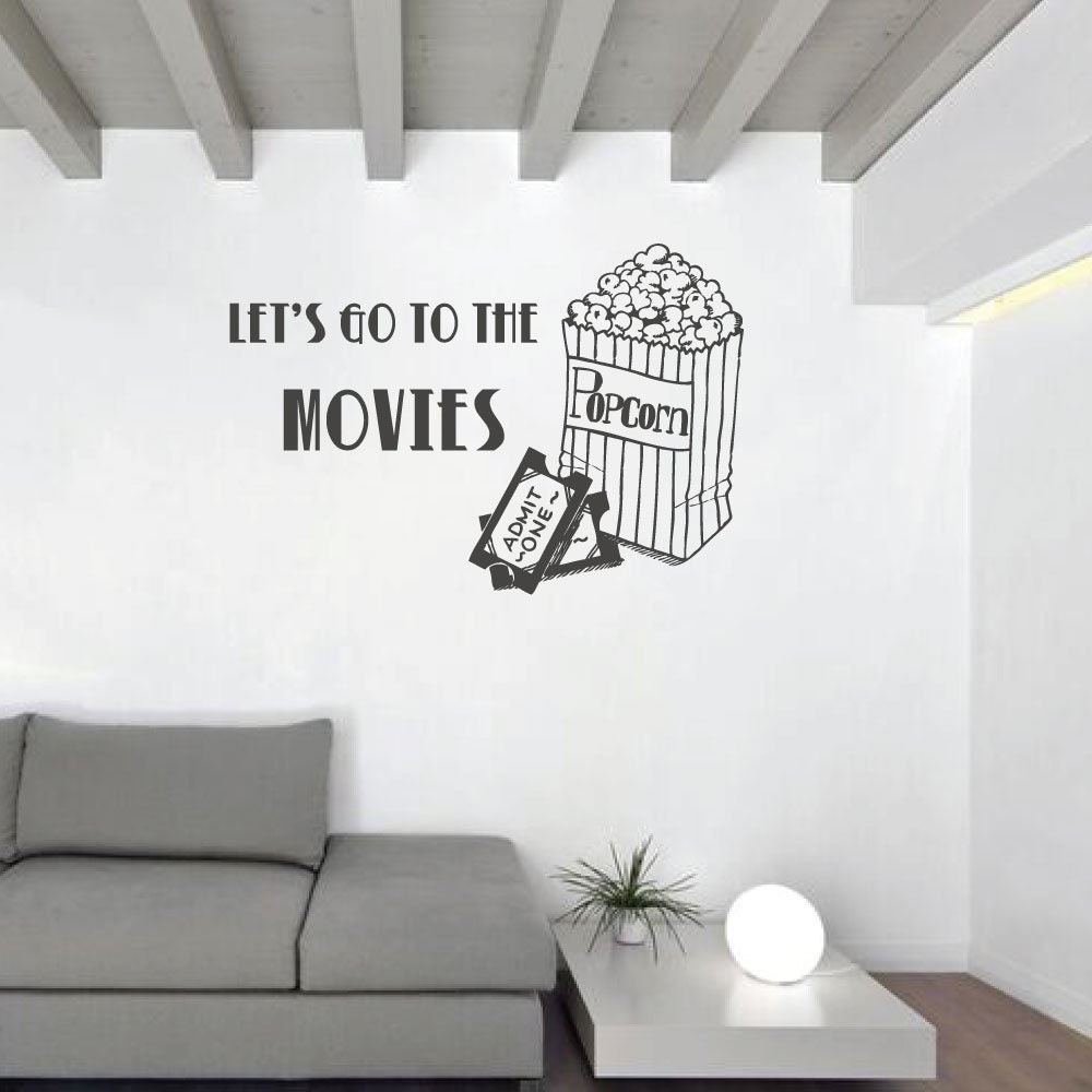 Movie Wall Art Let S Go To The Movies Wall Etsy