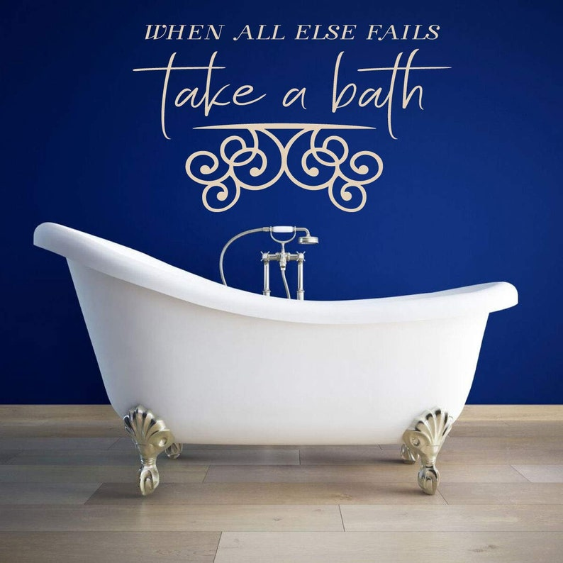 When All Else Fails Bathroom Wall Decor Silhouette Vinyl Sticker Decoration for the Home Bath Decal Art Take a Bath A Variety