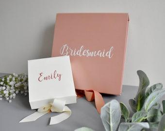 Bridesmaid Boxes   Personalised Bridesmaid Boxes  Hand Painted Bridesmaid Boxes   Personalised Wedding Gift Boxes   Custom Wedding Boxes