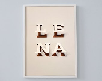 Letter poster with your desired name