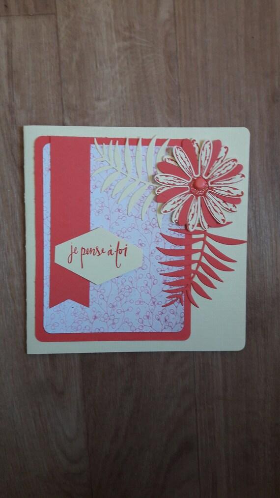 Carte Fleurs Je Pense à Toi