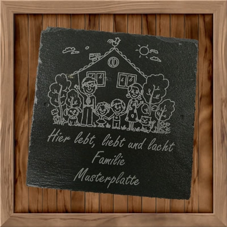 Personalized door sign with family name  Slate in versch. image 1