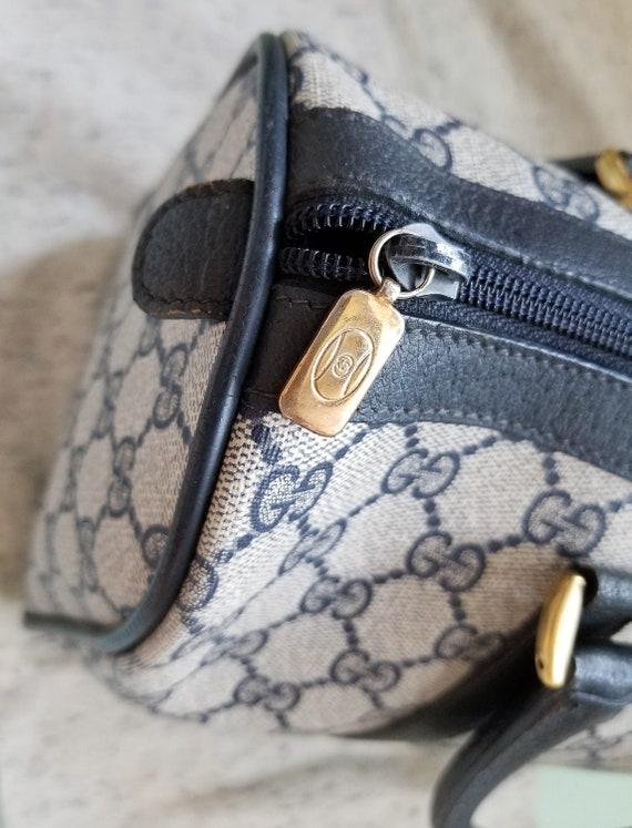 Vintage Gucci Navy Boston Bag/Monogram/Ophidia/Sh… - image 6