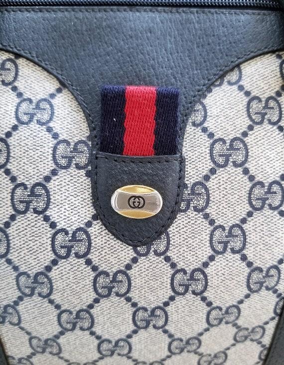 Vintage Gucci Navy Boston Bag/Monogram/Ophidia/Sh… - image 3